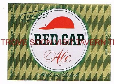 Unused 1960s Carling Red Cap Ale Frankenmuth 12½oz label Tavern Trove