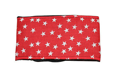 **Buy 2 get 1 free** dog puppy belly band **red stars** marking  wee wrap nappy