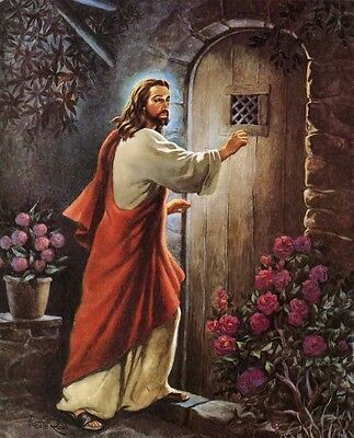 Jesus Knocking At Door 8X10 Glossy Photo Picture