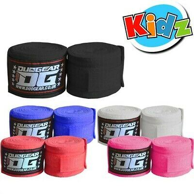 KIDS JUNIOR  HAND WRAPS WRIST SUPPORTS FOR MMA KICKBOXING SPORTS TRAINING 1.5m