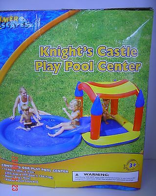 KNIGHT'S Castle PLAY Pool CENTER Inflatable Water Vinyl Ages 3+ Summer ESCAPES