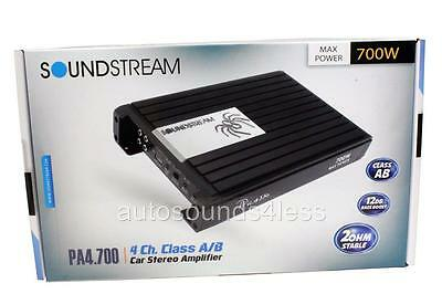 Soundstream PA4.700 Picasso 700 Watts 4-Channel Class A/B Car Audio Amplifier