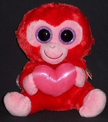 """TY BEANIE BOOS - CHARMING the 9"""" MONKEY (MEDIUM) - MINT with MINT TAG"""
