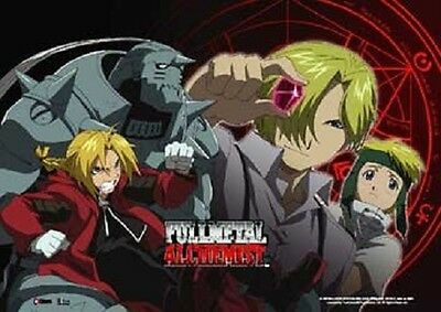 *NEW* Fullmetal Alchemist: Alphonse Edward Elric Group Wall Scroll (Landscape)