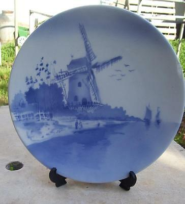 Large Vintage Windmill Wall Plate Made In Germany
