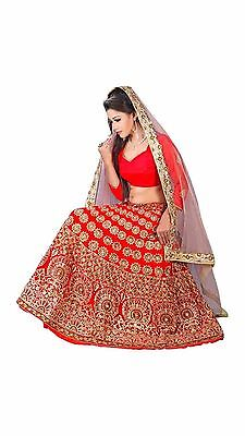 Party Wear Designer Bollywood Georgette Embroidery Bridal Lehenga Choli Saree115