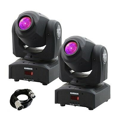 Equinox Fusion Spot MAX Moving Head Lighting Effect (Pair) inc Free DMX Cable