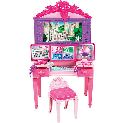 Barbie Princess Vanity Power Play Set Accessories Gift Girls Kids Fun Present