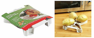 Microwave Baked Jacket Potato Baker Holder Stand Steamer Kitchen Baking Roasting