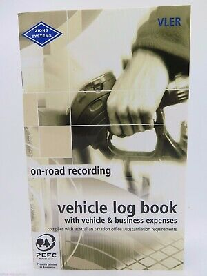 1 x Zions Pocket Vehicle Log & Expense Book 64P ATO Compliant VLER^