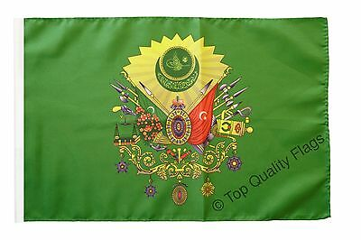 "Ottoman Empire Coat of Arms Banner 30x45cm – 18""x12"" Small Flag"