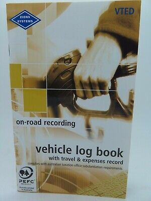 1 x Zions Pocket Combined Vehicle Log & Expense Book 64P VTED