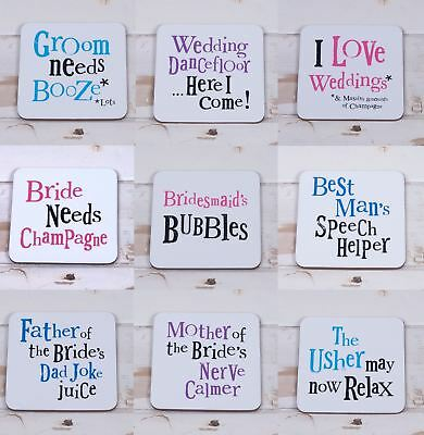 Bright Side Vintage Chic Wedding Wooden Coaster Top Table Novelty Keepsake Gift