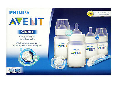 Philips AVENT Classic Plus Newborn Starter Set SCD371/00 **BRAND NEW**