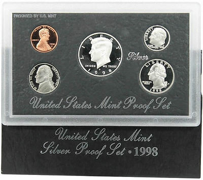 1998 S US Mint Silver Proof Coin Set