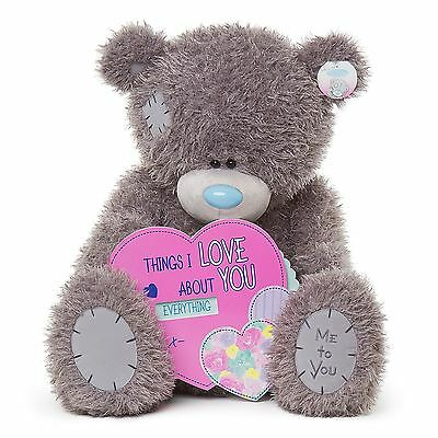 "Me to You 28"" Huge Things I Love About You Spinning Heart - Tatty Teddy Bear"