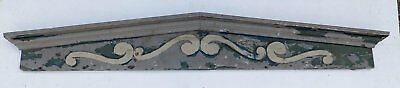 Large Antique Window Pediment Header Old Vintage Shabby Victorian Chic 362-16