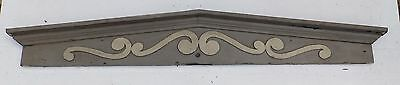 Large Antique Window Pediment Header Old Vintage Shabby Victorian Chic 364-16