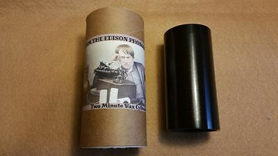 Awesome 2 minute BLACK WAX Cylinder I AM THE EDISON PHONOGRAPH Advert Copy