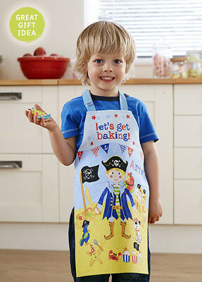 Captain Flapjack  Kids Apron by Cooksmart , Blue Cotton PVC