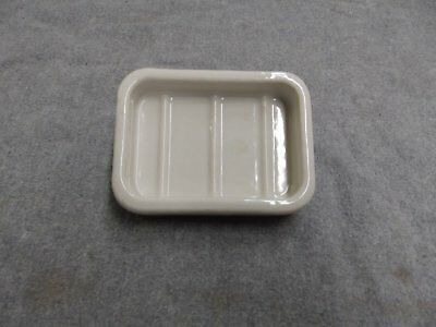 Vintage Ceramic White Porcelain Soap Dish Old Bathroom Fixture 365-16