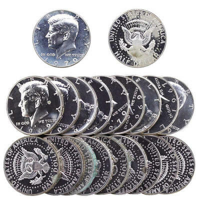 Kennedy Half Dollar 40% Silver Proof Roll With Problems Rejects 20 US Coins
