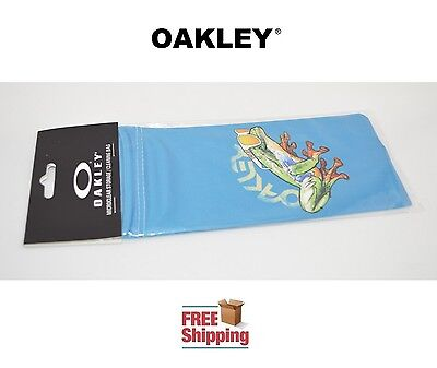 Oakley® Sunglasses Eyeglasses Microclear Cleaning Storage Bag Frogskins Blue New