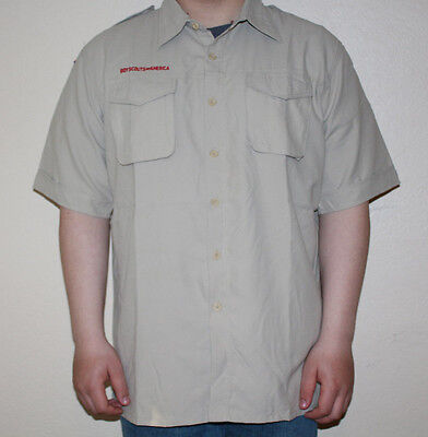 Boy Scout Shirt NEW ~ YOUTH LARGE ~  BSA Short Sleeve Summer Vented Soft Poly