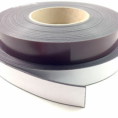 30m FULL ROLLS SELF ADHESIVE MAGNETIC TAPE MAGNET STRIP A & B 12.5mm 20mm & 25mm