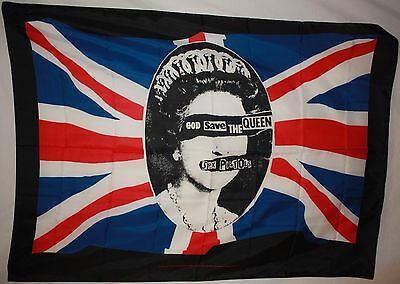 Sex Pistols God Save The Queen Cloth Poster Flag Fabric Textile Tapestry-New!