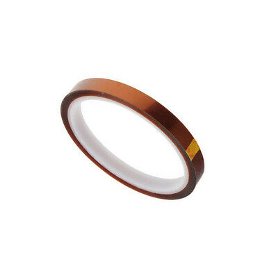5x 10mm 100ft BGA High Temperature Heat Resistant Polyimide Gold Kapton Tape NEW