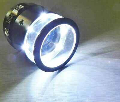 iGaging 10x LOUPE MEASURING WITH SCALE MAGNIFIER ILLUMINATED WITH 8 BRIGHT LEDS