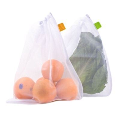 D.Line Mesh Eco Reusable Produce Bags - Keeps Produce Fresher For Longer
