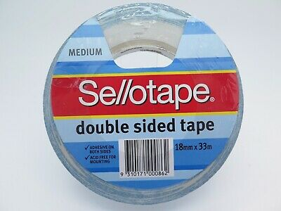 1 x Sellotape Double Sided Tape 404 18mmx33m 960604
