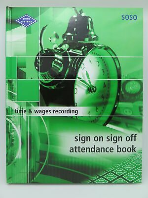Zions Sign On Sign Off Attendance Book 264P 270 x 210mm SOSO^