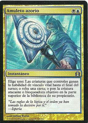 mtg Magic 1x Azorius Charm ( Amuleto azorio ) FOIL GOOD+ Spanish