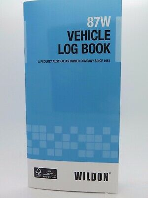 Wildon Vehicle Log Journal ATO Compliant 87W WIL087*