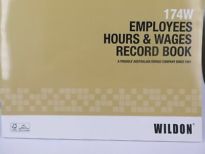 Wildon Employees Hour & Wages Record Book 174W WIL174