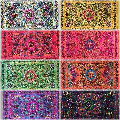 Indian Tapestry Suzani Wall Hanging Cover Mandala Hippie Gypsy Throw Bohemian