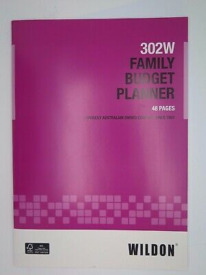 Wildon FAMILY BUDGET PLANNER 48P 302W WIL302*