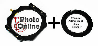 Lee Compatible Filter Holder + 77mm Wide Angle Adapter Ring 4x4 100mm Holder