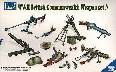 Riich Models RE 30010 - WWII British Commonwealth Weapon Set A - 1:35