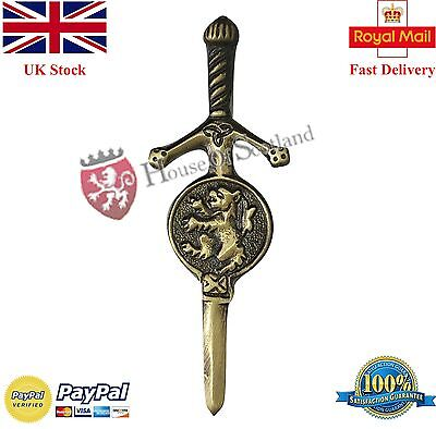 "New Scottish Kilt Pin Lion Rampant Antique Finish 3.5""/Celtic Sword Kilt Pins"