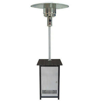 HomComfort HCPHSSWKR Stainless Steel Gas Patio Heater with Wicker Stand and Door
