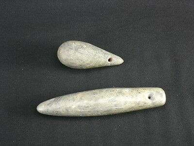 Two Native American Indian Charm Stones from California, Circa: 1900