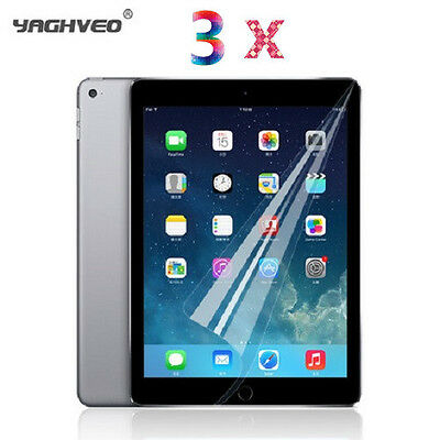 3 X LCD Protection Film Screen Protector Guard Shield For Apple Ipad 5 Air 1 & 2