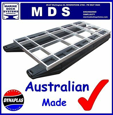5.7m x 2.5m PONTOON BOAT BBQ WORK PLATFORM BARGE POLY FLOAT HULL ALUMINIUM FRAME