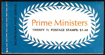 1972 Prime Ministers $1.40 booklet with SCARCE non-helicon Fisher pane. Ret:$450