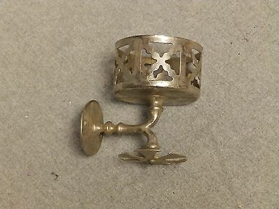 Antique Nickel Brass Cup Toothbrush Holder Old Vintage Bathroom Fixture 387-16