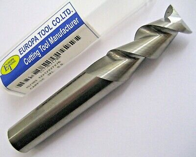 12mm SOLID CARBIDE 2 FLUTED HIGH HELIX ALI SLOT MILL EUROPA TOOL 1573031200  #74
